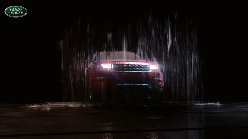 Range Rover 3D waterfall