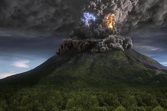 Vulcano 3D animation
