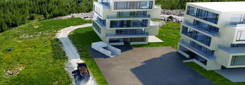 3D Architecture drone video