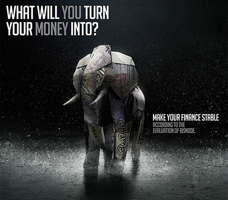 Advertising poster Making of / 3D elephant