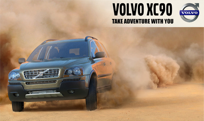 3D Volvo Advertising Poster
