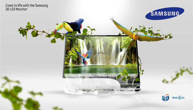 Samsung Waterfall Poster