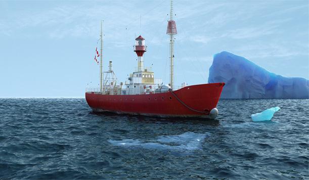 3D Ship Scene