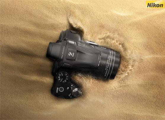 3d Nikon Coolpix p510 and Poster Design