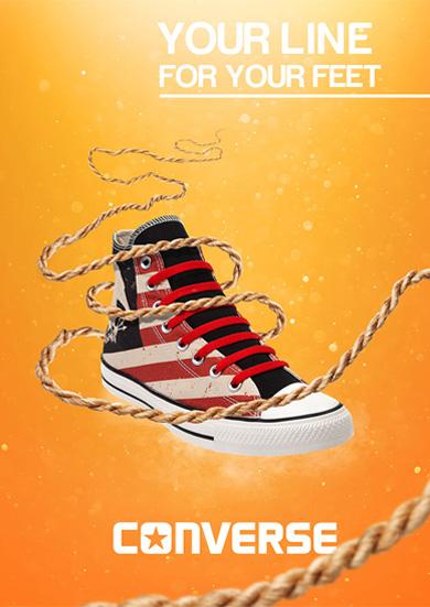 Converse Shoe Advertising Poster Design