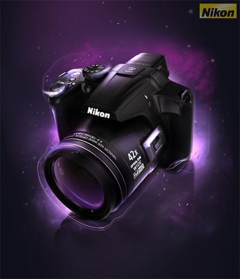 3D Nikon P510 Advertising Poster