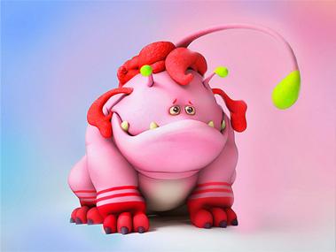 3D Cartoon Baby Monster