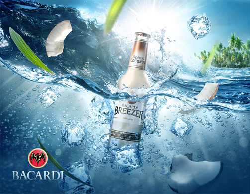 Bacardi CGI Poster