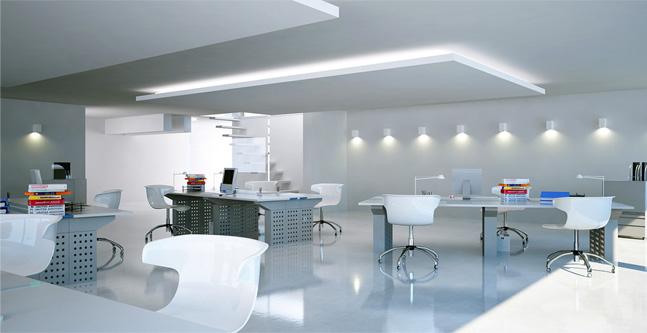 3D Modern Office Rendering