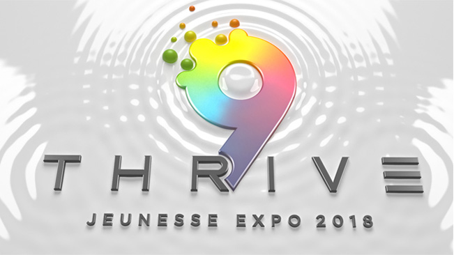 Thrive 9 Expo 3D logo animation