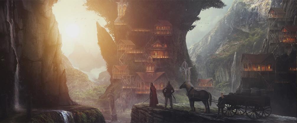 Gaming Scene Concept Art