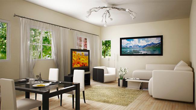 House Interior 3D Rendering